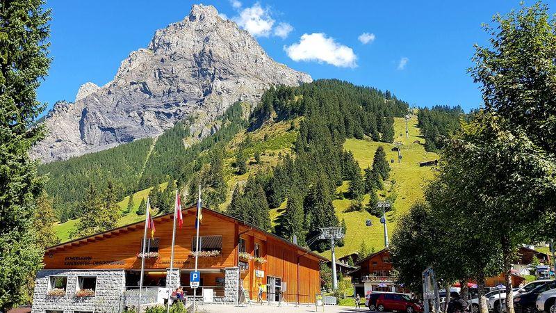 Handycam Samsungs7edge Swiss Mountains Swisstravel Berner Oberland Bern Swiss Alps Kandersteg, Switzerland Oeschinen Lake Tree Sky Mountain Range
