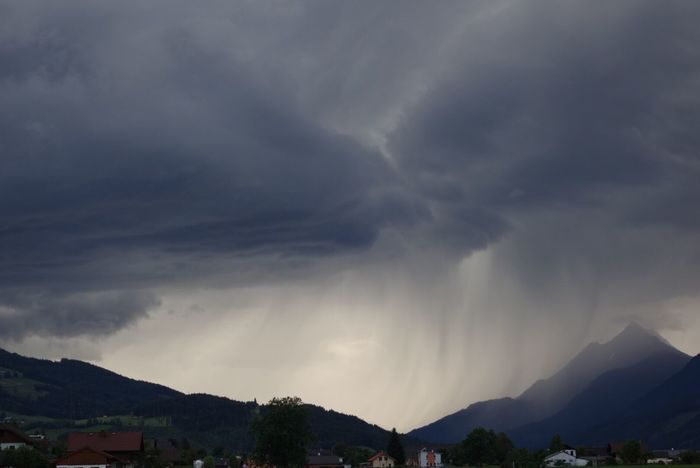 Mountain Mountain Range Landscape Cloud - Sky Mountain Peak Storm, Dark, Rain, Cloud, Awe, Overpowering