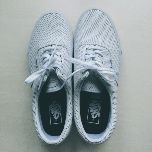 Vans: limited edition Fashion Pair High Angle View Footwear Shoelace Canvas Shoe No People Things That Go Together Indoors  Day