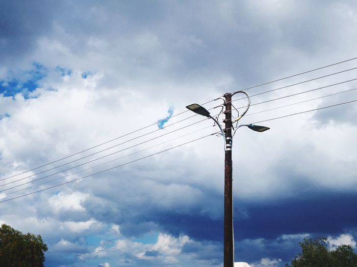 Urbanphotography Streetphotography Great Atmosphere EyeEm Selects Smartphonephotography Clouds And Sky Dim Light WeekOnEyeEm Technology Sky Cloud - Sky Electricity Tower Telephone Line Electricity Pylon Power Line  High Voltage Sign Electricity