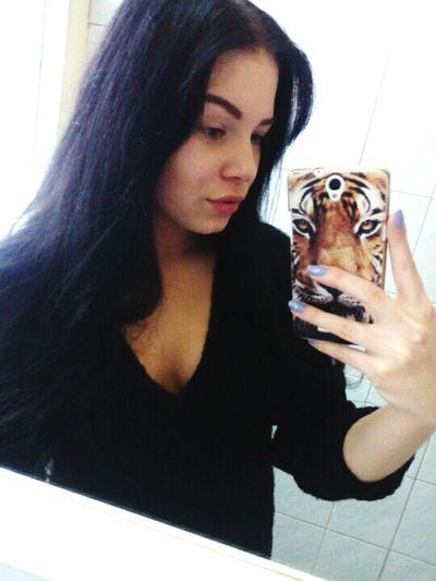 Brunette Polishgirl Selfie Tiger Olitangerine At School Black