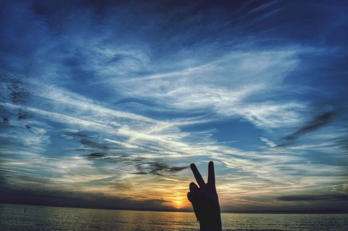 Peace and Love! Peace Love Sunset Clouds