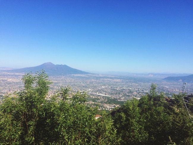 Mountain Nature Day Clear Sky Beauty In Nature City Vulcano Vesuvio Naples Naples, Italy Sky First Eyeem Photo