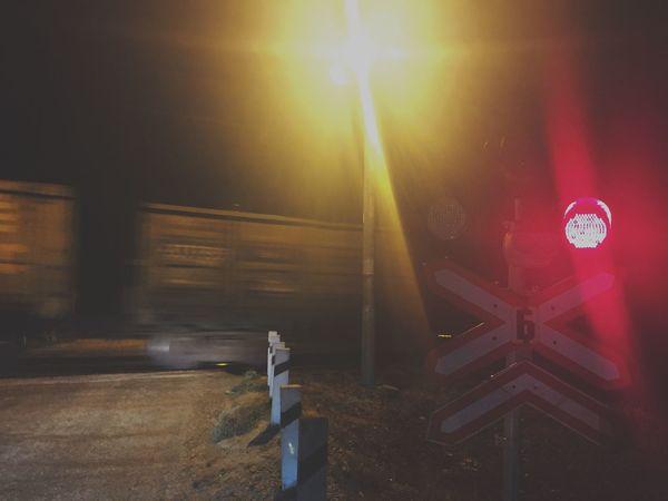 Transportation Illuminated Night Outdoors Railway Signal