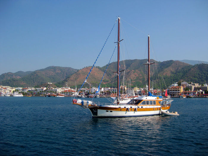 Boat Traveling In Sea