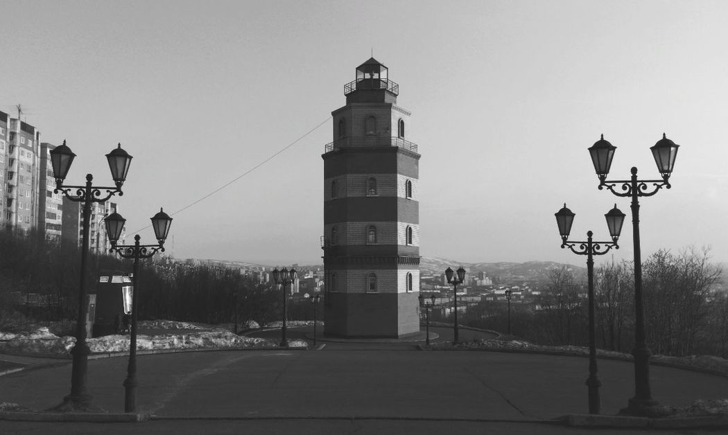 Lighthouse in Murmansk. Monochrome Blackandwhite Eye4black&white  B&w Enjoying The View From My Point Of View Urban Geometry Cityscapes