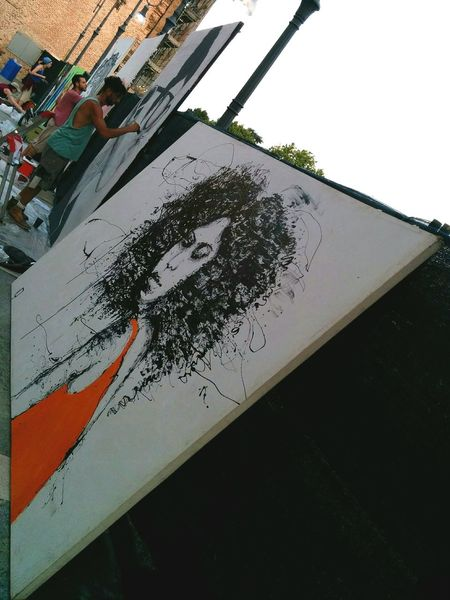 Street Art/Graffiti Streetart Street Art Murales Art Spraypaint Getting Inspired Girl Hairstyle Painting Paint Colors People And Places