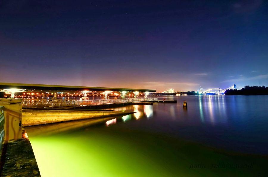 putrajaya Water Illuminated Reflection Night River Built Structure Architecture No People Nature