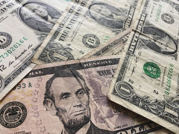 Us Bank Note Currency Finance Paper Currency Business Wealth Backgrounds Human Representation Economy Representation Paper Pattern Close-up Full Frame Indoors