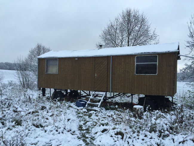 Autumn Cold Temperature Day Extreme Fall Germany Landscape Living Motor Home Nature Nature No People Outdoors Sky Snow Survival Trailer Weather Winter Winter