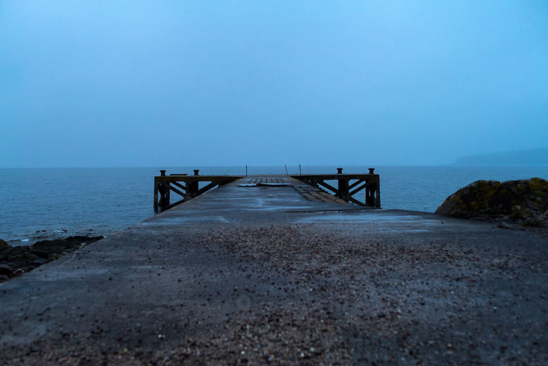 Pier. Beach Beauty In Nature Horizon Horizon Over Water Land And Sea Land And Sky Lonely Nature No People Ocean Outdoors Path To Nowhere Pier Sea Water Wave