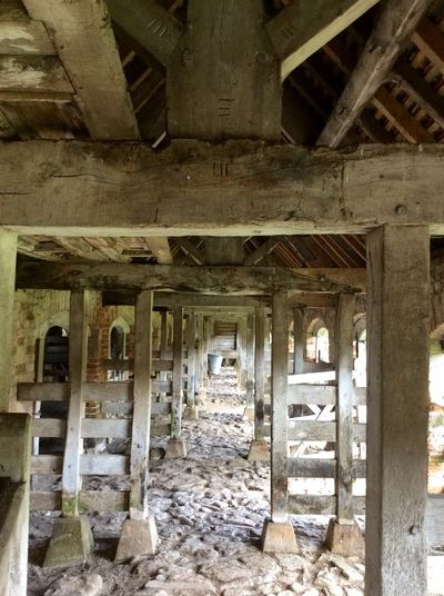 Old calf pens in barn Calf House Pens Barn Wood Wood - Material Lines Vintage Rafters Empty Empty Places Old Barn The Architect - 2017 EyeEm Awards