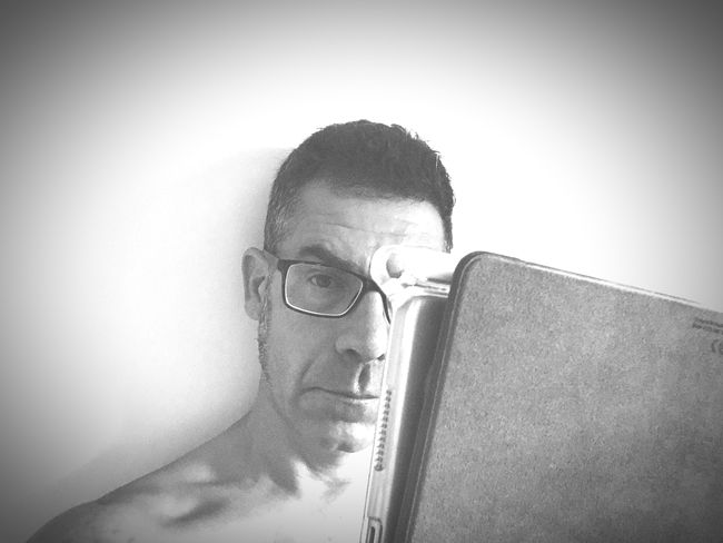 """Trying to read the """"papers"""" #selfie Portrait One Person Headshot Looking At Camera Glasses Real People Lifestyles Eyeglasses  Adult Vignette Indoors  Close-up Human Face"""