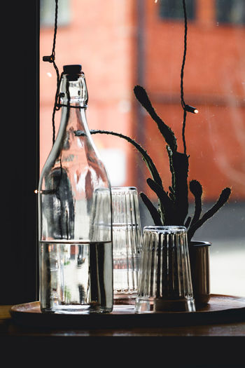 Bottle Cafe Close-up Food And Drink Glass Glass - Material Home Interior Still Life Transparent Vase