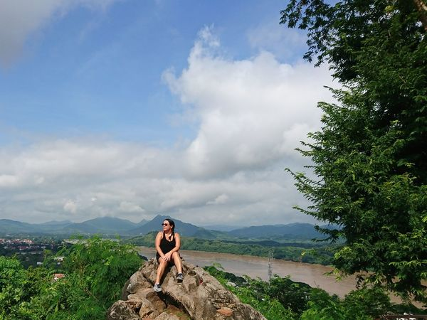 Phousi Hill, Luang Prabang One Person Cloud - Sky Only Women One Woman Only Day Adventure Landscape Luangprabang Mekong River Mekong Delta Mekongriver Laos Travel Laos2017 Laos, Lao Trip Luang Prabang, Laos