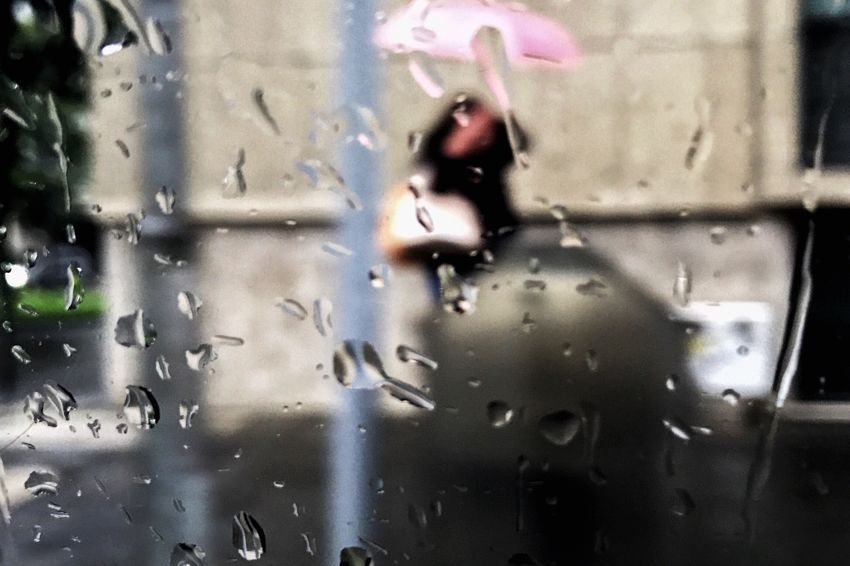 Neon Life Pink in the rain Rain Wet Water Window View From The Window... Real People Umbrella One Person Day Drop RainDrop Motion Women Close-up People Outdoors Streetphotography Urban Landscape Rainy Days Focus On Foreground Urban Impressions The Week On EyeEm Stories From The City Adventures In The City The Street Photographer - 2018 EyeEm Awards