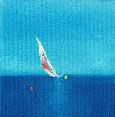 Cobalt Blue By Motorola Painting Art Jeremy Downes Art Relaxing Vitam Diligere Enjoying Life Boat Sea Calm