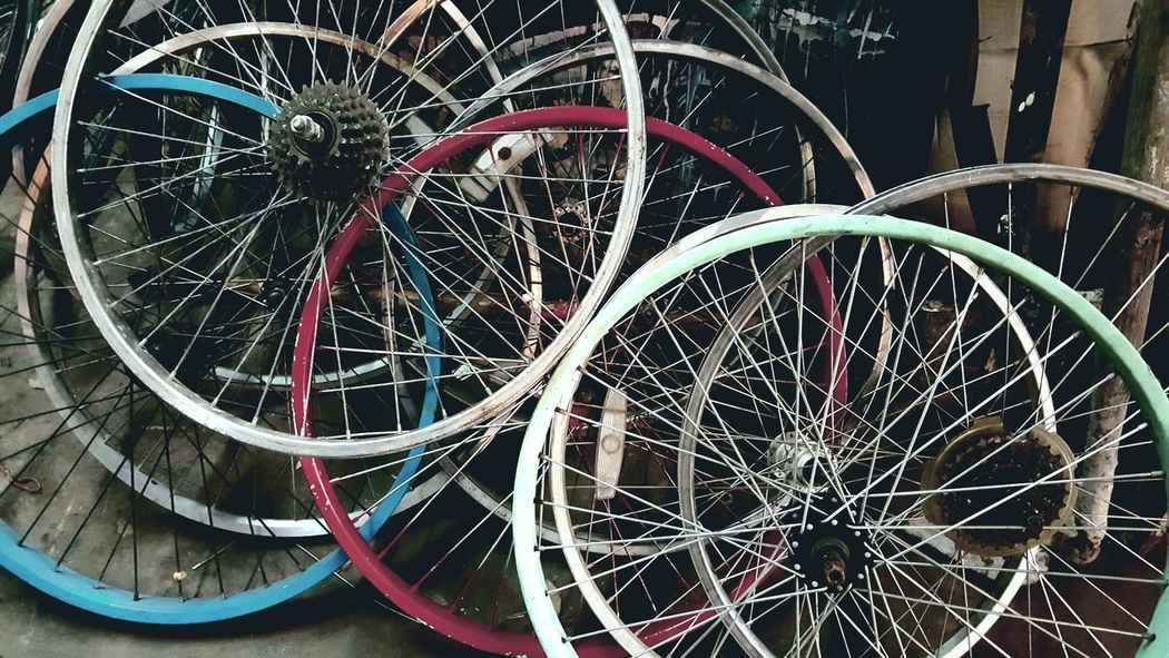 Bicycle Bicycle Wheel Bike Bike Shop Bike Show Bike Tire Day Horizontal Land Vehicle Mode Of Transport No People Outdoors Spoke Tire Transportation Vintage Wheel Wheel Wheel White