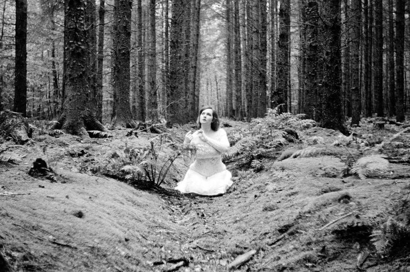 Forest Full Length Tree WoodLand One Person Real People Outdoors Tree Trunk Day Young Adult Nature Wedding Dress People