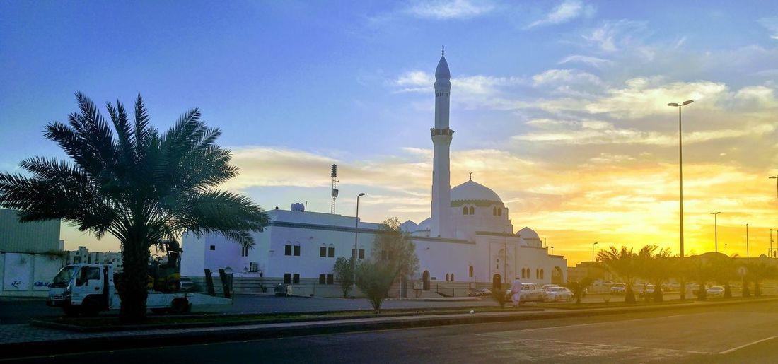 Sunset And Clouds  Masjid Aljumaa