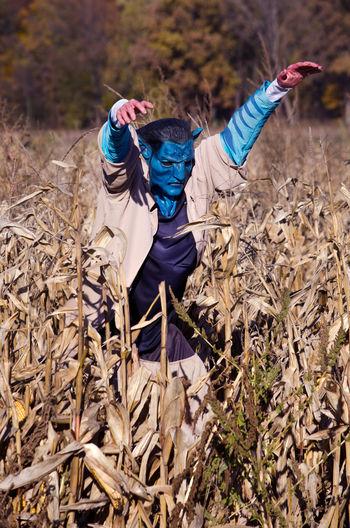 Scarecrow at farm