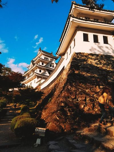 Gujohachiman Japan Photography Japan Scenery Tourist Destination Tranquility Tranquil Scene Daylight Light And Shadow Castle Castle Walls Japanese Castle Tradition History Cultures