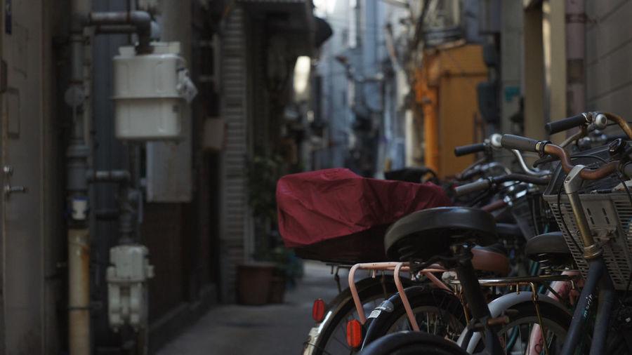 City Street Bicycle Street City Day Cityscape Osaka-shi,Japan Helios 44 58mm F2 Cityscape Nex5 City City Life