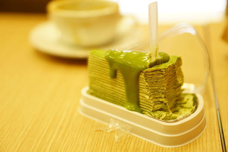 Crape Cake Yummy Indoors  Food And Drink Matcha Tea No People Freshness Food Close-up Day