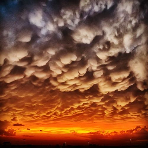 And then, this happened. Travel Vacation Nature Sky sun lake sunset night twilight weather clouds cloudporn crazyclouds skylovers skypainters mothernature ladd00 mammatus roadtrip landscape twincities msp eagan minnesota mn mnstorm