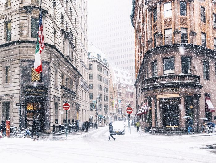 City street during winter