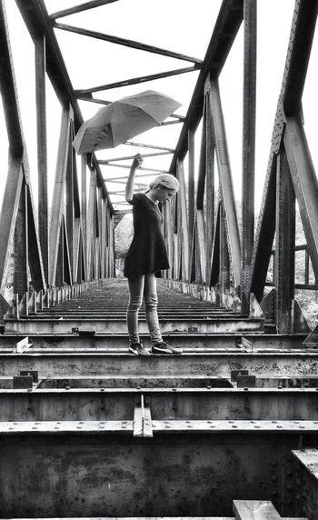 Blackandwhite Bridge Facedown For Life