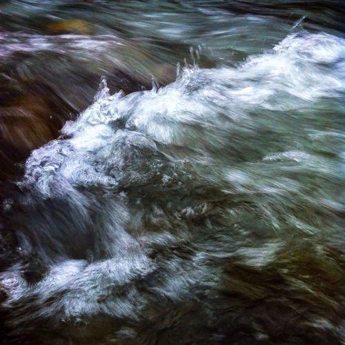 Full frame shot of water flowing