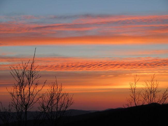Scenics Nature Parco Nazionale Appennino Tosco-emiliano Romantic Sky Orange Color Tranquility Multi Colored Tranquil Scene Canon Ixus 285 NoFILTER :)