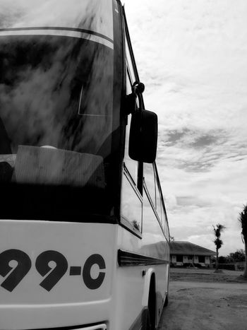 goodbye.. Outdoors Day Sky No People Blackandwhite Blackandwhite Photography Black & White Long Goodbye Bus Commute Philippines Huaweigr52017 EyeEm Best Shots Eyeem Philippines Bicol EyeEm Gallery Eyem Best Shots Phone Photography Dual Camera B&W Collection B&w Photography Sunnyday Industry