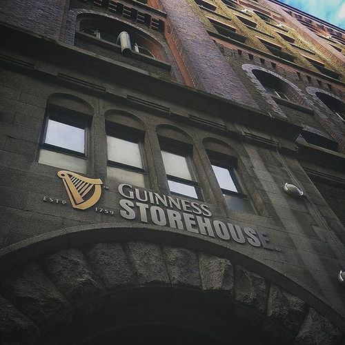 A magical place meeting the Guinness Ompa Loompas. Guinness Guinnessbrewery Dublin StorehouseStory