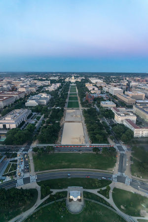 Capital Cities  Capitol Capitol Hill City Feel The Journey International Landmark Jefferson Memorial Lincoln Memorial National Mall Night Original Experiences Potomac Sightseeing Tidal Basin Twilight USA Washington Monument Washington, D. C. A Bird's Eye View