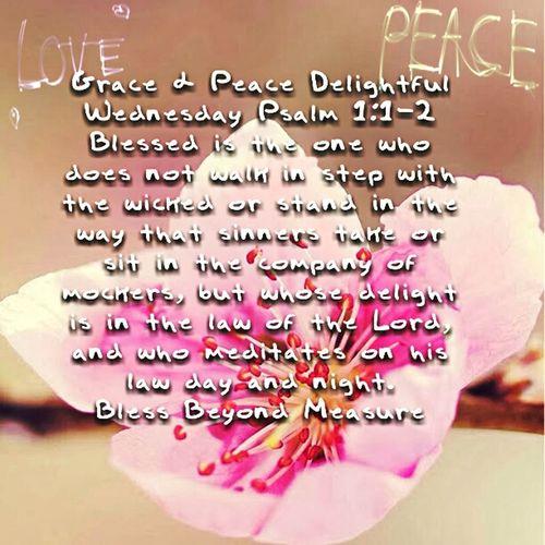 Grace & Peace Delightful Wednesday