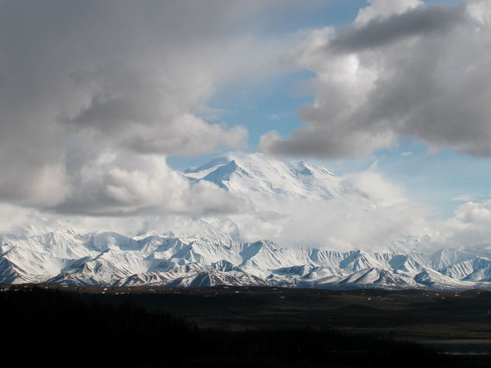 Alaska Architecture Beauty In Nature Cloud - Sky Cold Temperature Day Denail Denali National Park Idyllic Landscape Mountain Mountain Peak Mountain Range Mt Denali Mt McKinley Nature No People Outdoors Scenics Sky Snow Snowcapped Mountain Tranquil Scene Winter