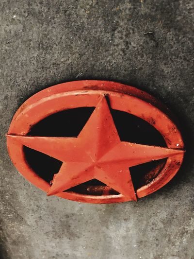 No People High Angle View Close-up Red Day Outdoors Star Texas