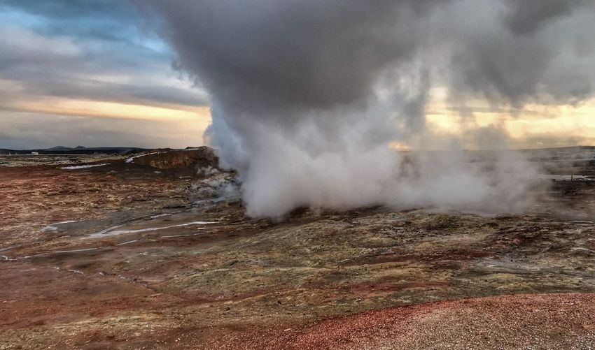 Iceland Motion Beauty In Nature Geyser Heat - Temperature Steam Travel Destinations Hot Spring No People Scenics Physical Geography Outdoors