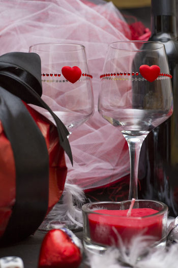 Love game with game dice, glasses, wine bottle and candle for a special party for two, Valentine's day Candle Chocolate Glasses Valentine's Day  Candlelight Celebration Close-up Day Gift Gifts ❤ Heart Love Party No People Red Valentine's Day - Holiday Valentines Day Valentinesday Wine Winebottle Winebottles Wineglass Wineglasses