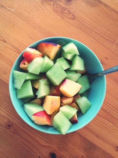 Before the autumn comes for good, let's enjoy these...Fruits ♡ Salad Healthy Bowl Eat Me Yum! Melon Nectarine Breakfast