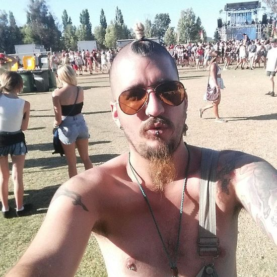 First time I've ever gotten my Baps out at a festival... And I loved it! Overalls Bapsout Titsout freethenipple southbound party summer motorboat
