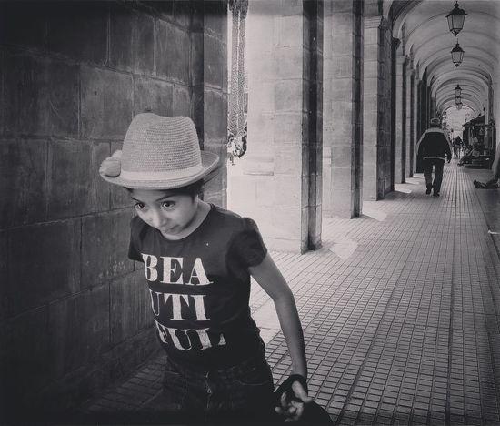Childhood Architecture Built Structure Building Exterior City Person Architectural Column City Life Bolivia Travel EyeEm Best Shots - Black + White