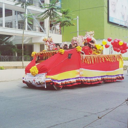There was a parade outside the office! Kiong Hee Huat Tsai! Happy New Year Chinese New Year Parade Kung Hei Fat Choi