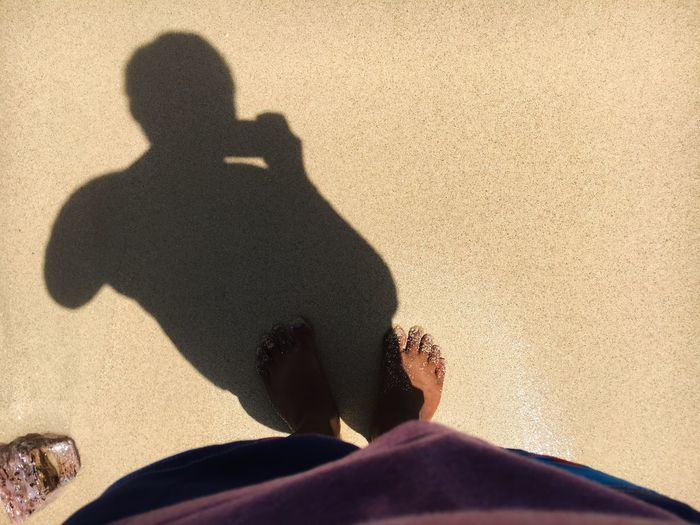 Fine creamy sand and me Sandy Beach Summertime Summer Beach CaramoanIslands Caramoan Island, Camarines Sur Real People Sunlight Shadow Beach One Person Lifestyles Nature Sand Focus On Shadow Unrecognizable Person