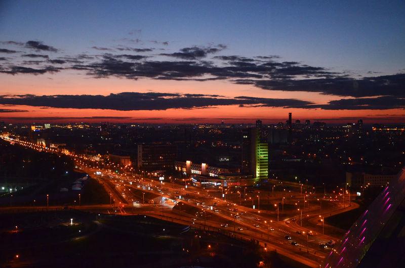Sunset Sky City View Citylife Minsk Belorussia Lights Evening Sky Evening Sun Evening Travel