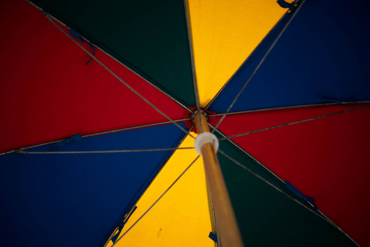 Beach Life Summertime Vacations Backgrounds Beach Beach Umbrella Color Colorful Day Full Frame Multi Colored Ocean Red Seaside Summer Umbrella Yellow
