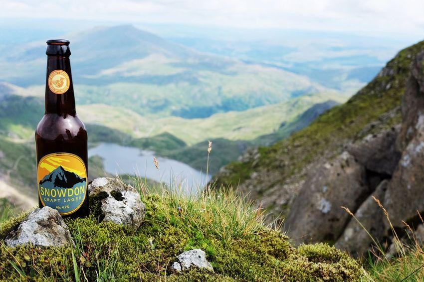 Reward Beer Cold Beer Beer Bottle Lager Refreshment Hiking Hikingadventures Adventure Summit View Landscape Landscapes View From Above Lake Lake View Valley Mountains Mountain Range Snowdonia Snowdon Wales Hidden Gems  Focus Object MISSIONS: The Great Outdoors - 2017 EyeEm Awards