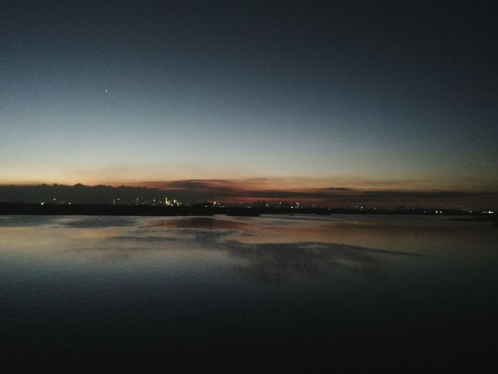 1-star sunset Landscape Sunset One Star View Point Calm City Lights Space Water Clear Sky Star - Space Lake Romantic Sky Tranquil Scene Tranquility Countryside Seascape